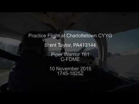 Flight over Charlottetown