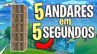 FORTNITE - COMO FAZER UMA BASE EM 5 SEGUNDOS! (Dicas de Construção)