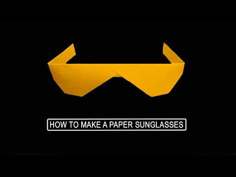 How to Make Paper Sunglasses - Origami (DIY)