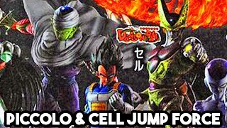 JUMP FORCE - CELL & PICCOLO SCANS & GAME MODELS REVEALED! Kenshin & Shishio!