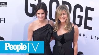 Courteney Cox Says What Happened During Jennifer Aniston's Birthday In-Flight Emergency | PeopleTV