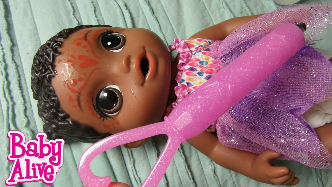 Baby Alive Face Paint Fairy Doll Feeding Changing