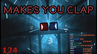 Actually playing Cha Cha Slide in Beat Saber