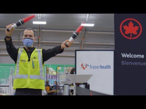 Air Canada : Aperçu des coulisses dun centre de vaccination de la C.-B. avec Matix