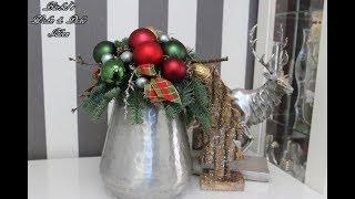 "Weihnachtsdeko "" Buntes Gesteck"" - Bärbel´s Wohn & Deko Ideen"