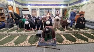 صلاة الجماعة لسماحة السيد العلوي في المدرسة الشبرية الدينية في النجف الأشرف رجب ١٤٤٢