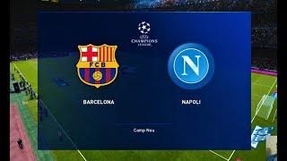 Gambar cover PES 2020   Barcelona vs Napoli   UEFA Champions League 2020   Gameplay PC