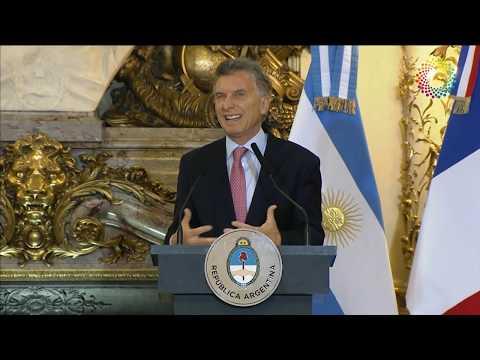Conferencia de prensa conjunta de los presidentes Mauricio Macri y Emmanuel Macron