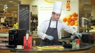 Стейк из свинины со сливочно-сырным соусом