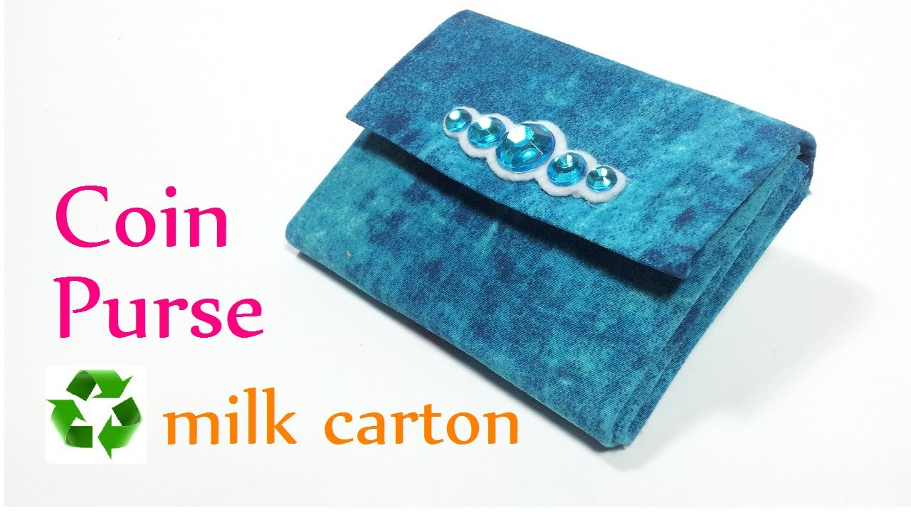 Diy crafts coin purse recycle milk carton innova crafts youtube solutioingenieria Choice Image