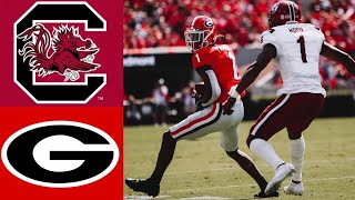 South Carolina vs #3 Georgia Highlights (F/2OT) | NCAAF Week 7 | College Football Highlights