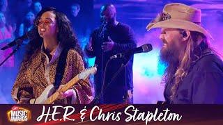 H E R Ft Chris Stapleton Performs Hold On 2021 Cmt Awards MP3