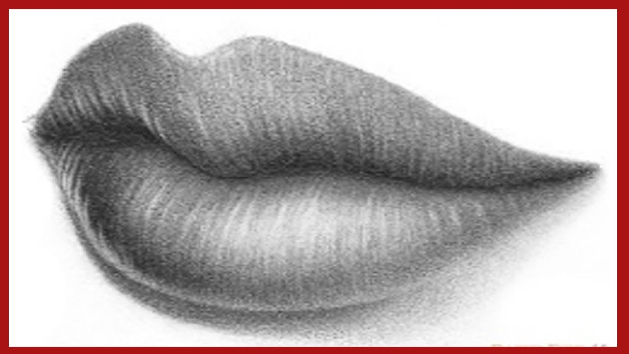 4 View  Perfect Side Lips Drawing Techniques
