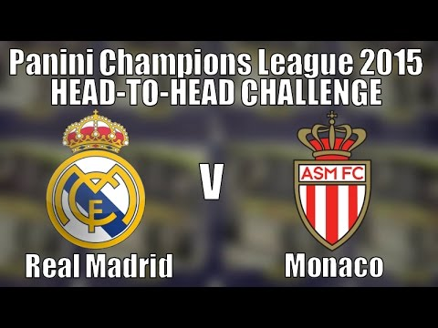 REAL MADRID v MONACO ⚽️ panini UEFA CHAMPIONS LEAGUE 2014-15 ⚽️ 8x STICKER PACKS CHALLENGE!