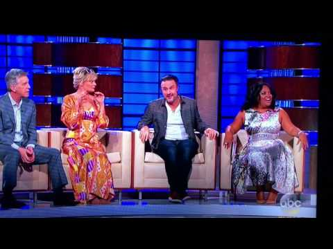 Anthony Anderson throws a snake at Sherri Shepherd