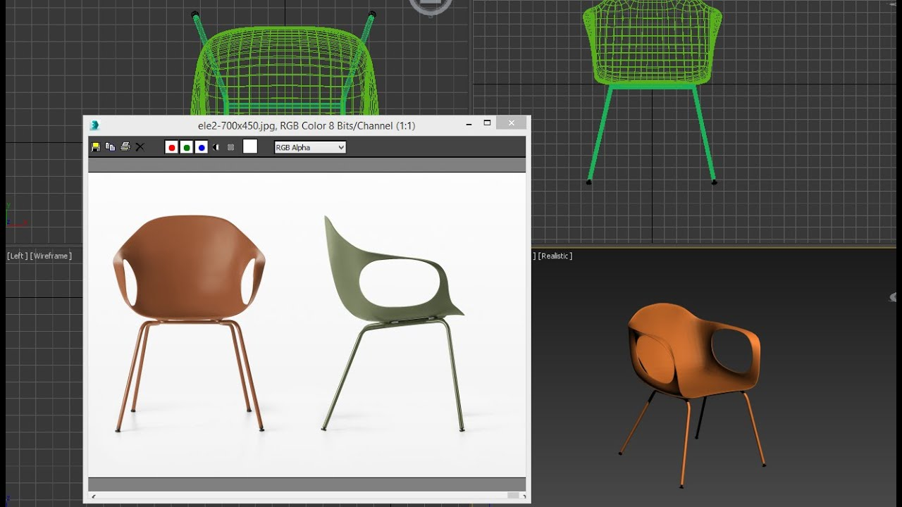 3ds max tutorial model chair easy youtube for Chair design 3ds max