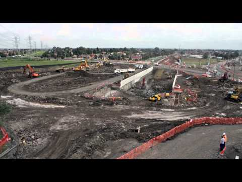 South Morang railway station timelapse to June 2011