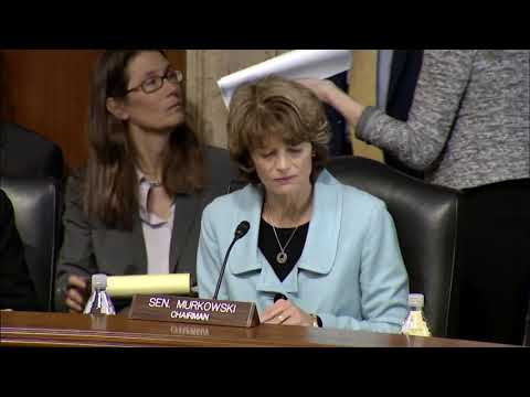 Sen. Murkowski's Opening Remarks from Today's Business Meeting