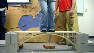 This was a bridge designed and built completely out of bulsa wood, by myself and 2 other students. Architects can be structure