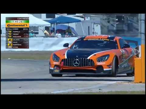Continental Tire SportsCar Challenge 2018 Sebring Cox Crashes into Mosing