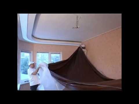 Натяжные потолки  Обвод трубы  Видеоинструкция