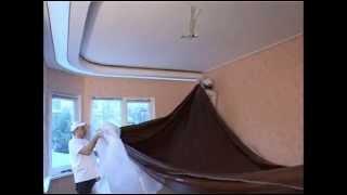 Сложный многоуровневый потолок. Секреты монтажа сложных натяжных потолков.(Понравилось видео? Ставь