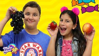 Maria Clara e JP fazem boas escolhas e trocam doces por frutas