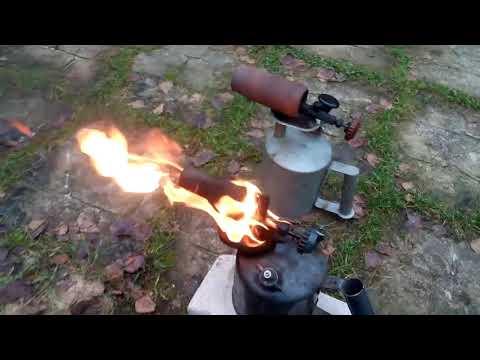 Паяльная лампа на солярке своими руками видео