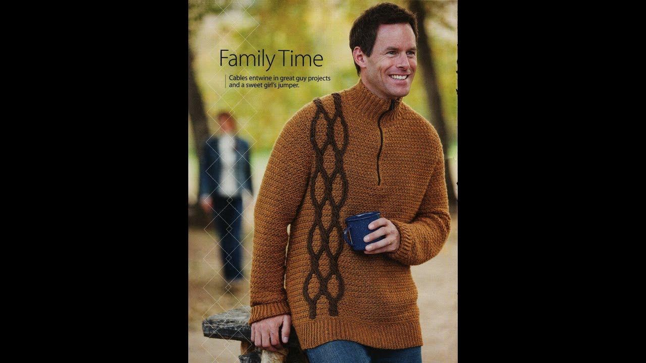 Free English Crochet Patterns For Crochet Sweater For Men 2154