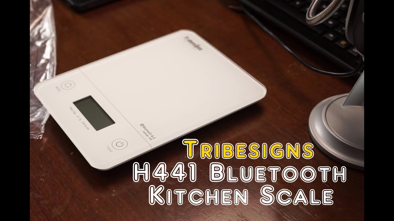 tribesigns h441 bluetooth kitchen scale review - youtube