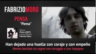 Fabrizio Moro - Pensa (Subtítulos en Español)