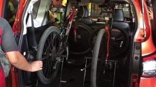 โตโยต้า เซียนต้า โชว์การพับเบาะหลัง-ขนจักรยาน