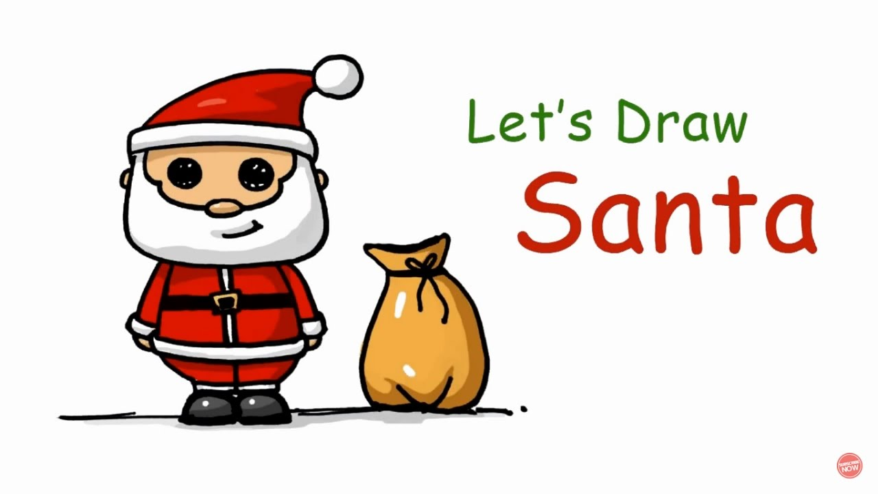 Speed Drawing How To Draw A Santa Claus Background Song Jingle