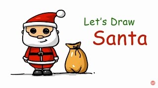 Speed drawing || How to Draw a Santa Claus (background song: Jingle Bells) || Merry Christmas