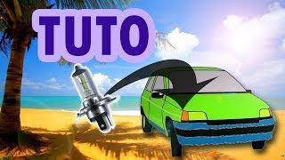 TUTO changer ampoule feux avant clio 1 (how to change light bulb)