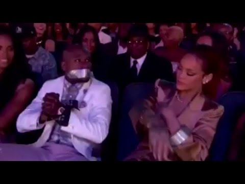 Rihanna Tapes Floyd Mayweather Mouth Shut at BET Awards