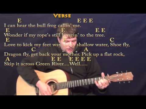 Green River (CCR) Strum Guitar Cover Lesson with Chords/Lyrics