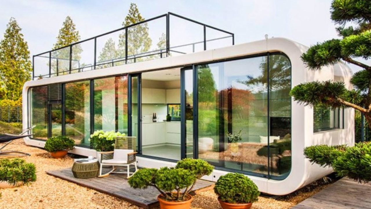Modular Beach Homes On Stilts. Affordable A Greenroofed