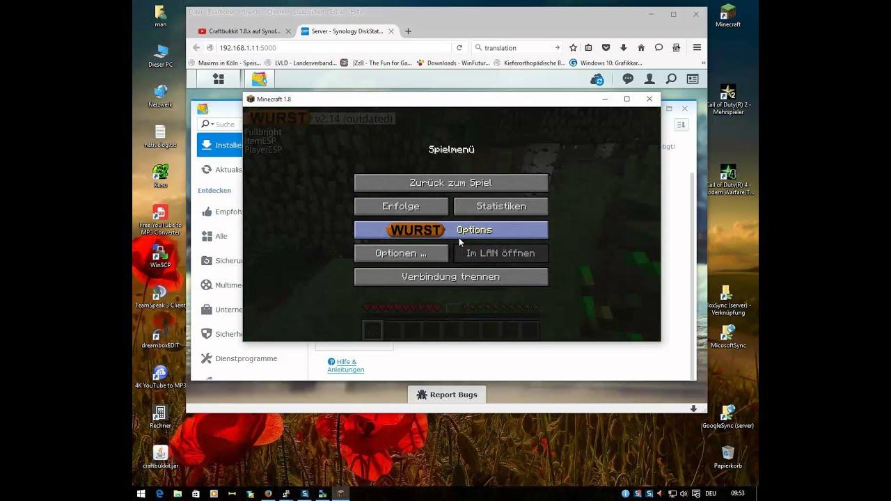 Minecraft Spigot Craftbukkit CoD Für - Minecraft server erstellen synology