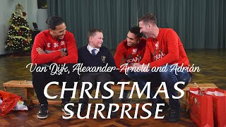 Van Dijk, Alexander-Arnold & Adrian's Christmas surprise at local school | INCREDIBLE REACTIONS!!