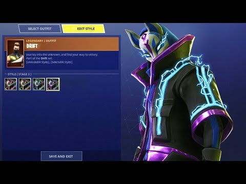 *NEW* DRIFT COLOR UPGRADES! | DRIFT FULLY UPGRADED! | Fortnite Battle Royale!