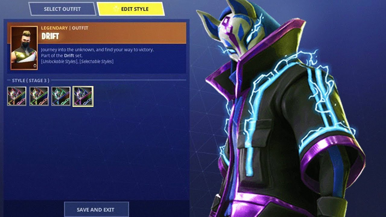 New Drift Color Upgrades Drift Fully Upgraded Fortnite Battle