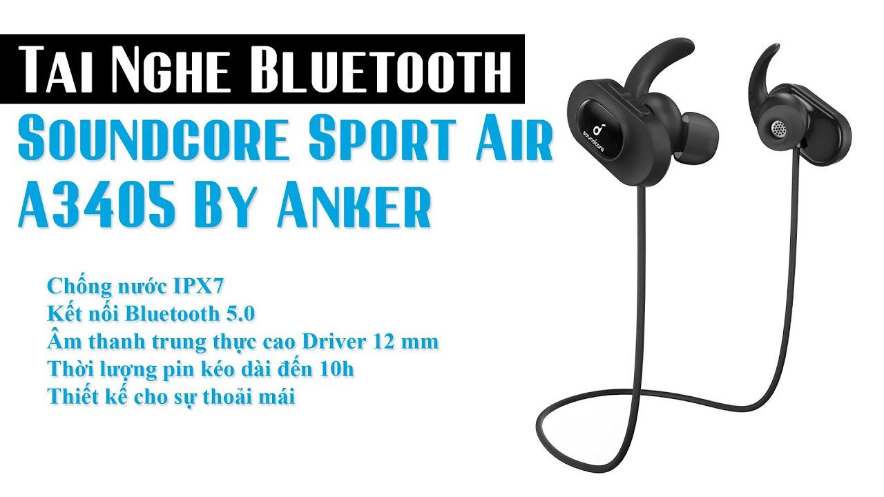 Tai Nghe Bluetooth ANKER SoundCore Sport Air A3405