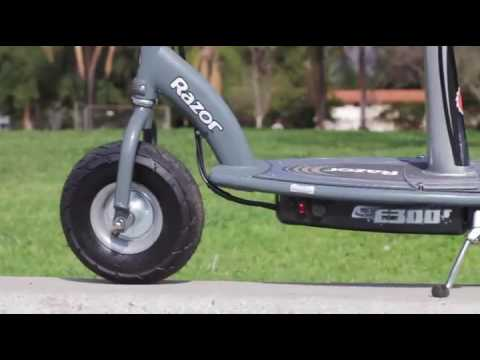 Razor E300s Seated Electric Scooter Youtube