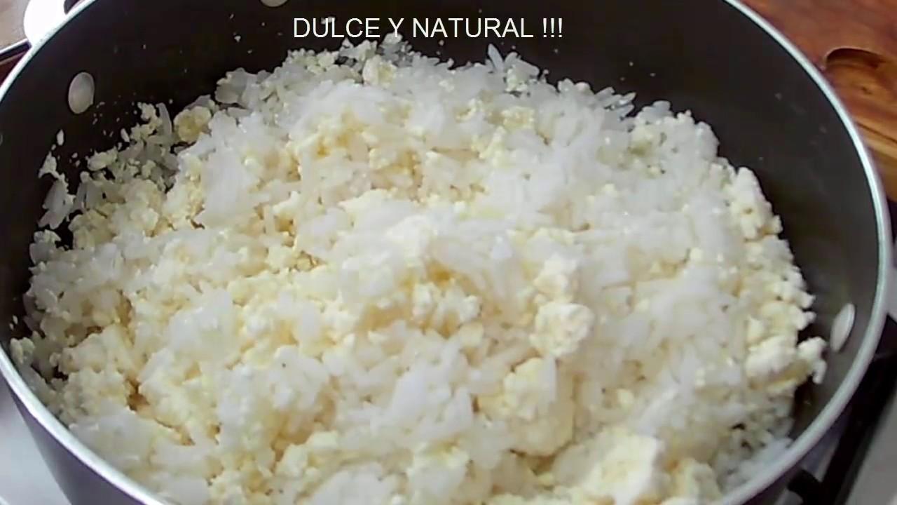 como hacer arroz blanco con mantequilla y leche
