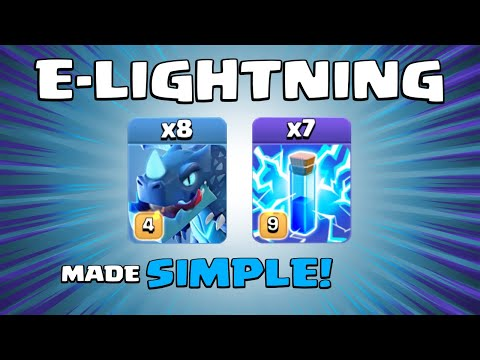 8 x ELECTRO DRAGONS + 7 x LIGHTNING SPELLS = WOW! New TH13 Attack Strategy - Clash of Clans