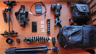 Inside the Camera Bag of a Small Time Filmmaker