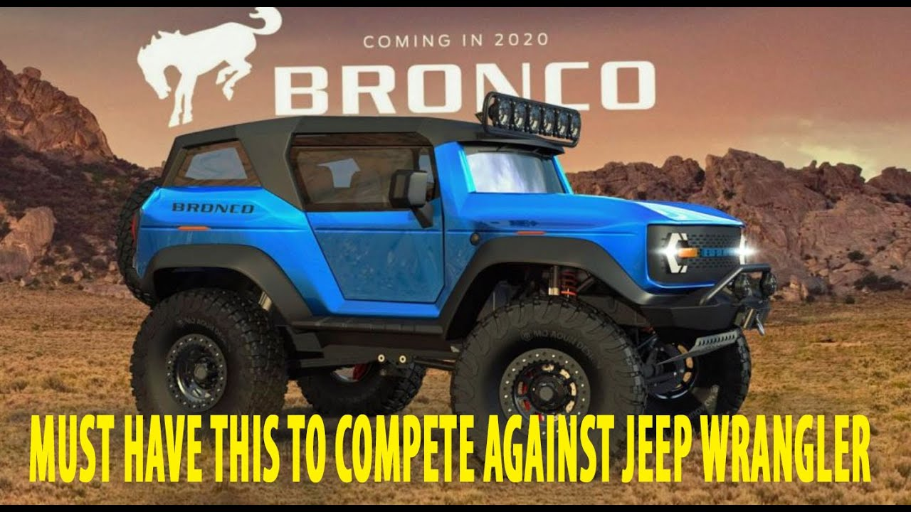 Ford Bronco vs. Jeep Wrangler: The War Begins