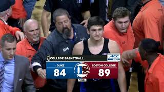 Boston College fans storm court after beating No. 1 Duke | ESPN