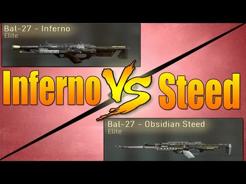 Bal-27 Inferno VS Bal-27 Obsidian Steed (Call of Duty Advanced Warfare Versus)